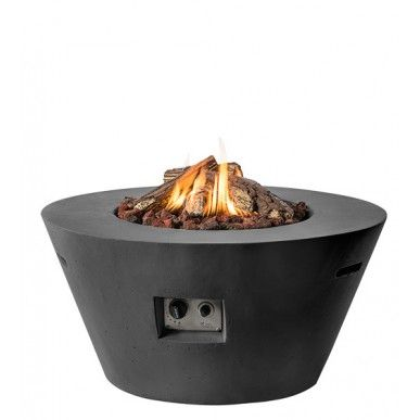 Happy Cocooning #Vuurtafel Cone - Rond - 96 cm - Zwart