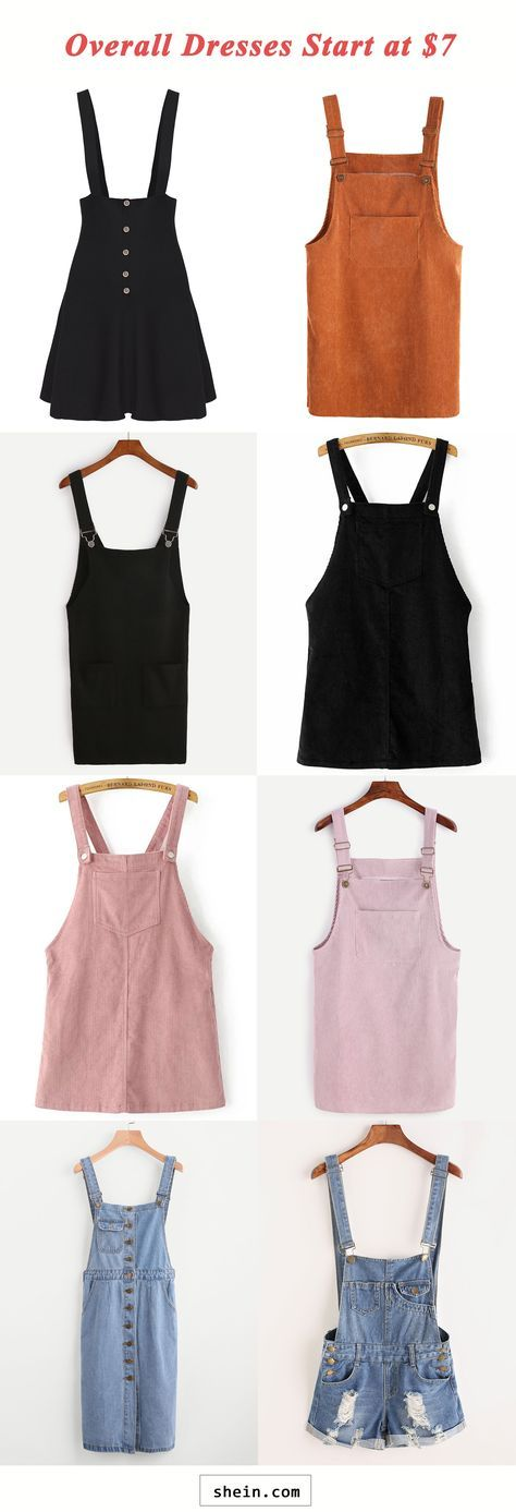 Overall dresses start at $7