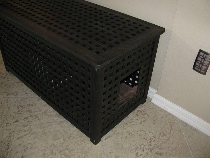 hide cat litter boxes | Razor Clean :: Hidden Litter Box..