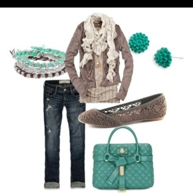 Cutest fall outfits!: Shoes, Colors Combos, Style, Clothing, Jeans, Colors Combinations, Fall Outfits, Flats, While