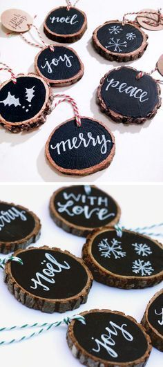 Rustic Tree Slice Tags .. This Could Be Used For SO Many Things