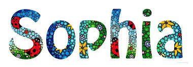SOPHIA. Meaning: Wisdom