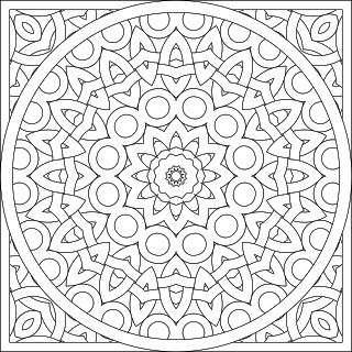 Don't Eat the Paste: A pair of mandalas to color