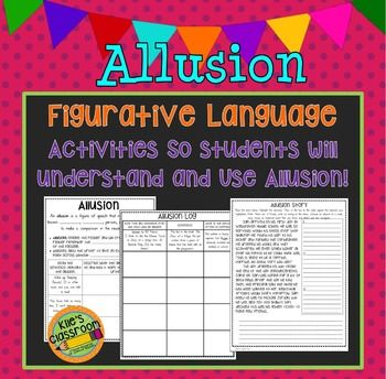 Allusion Figurative Language Guided Notes and Student Activity SetA great set to guide students to discover:Allusion Meaning, Examples, Purpose, and Using Allusion in WritingHelp students understand allusion and how to use it to improve their writing with this great set.