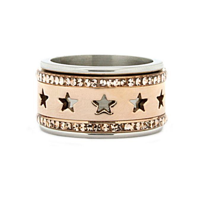 iXXXi Ring Komplett 2 Stapelring sterne stars silber, gold oder rosegold