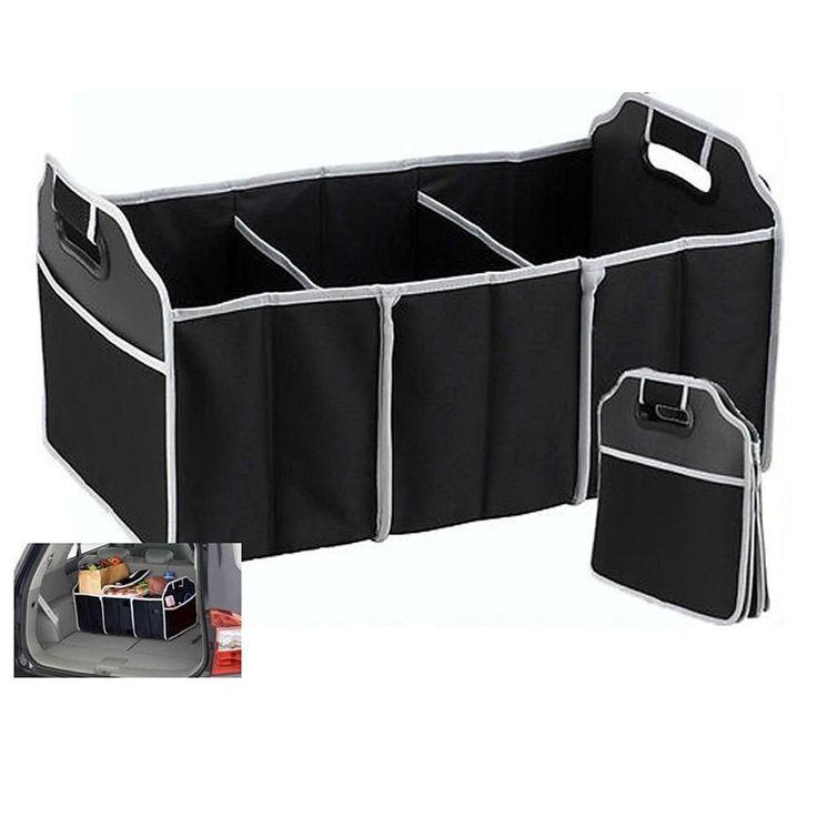 Amazon.com: TZIPCO'S Portable Collapsible Folding Flat Trunk Auto Organizer for Car SUV Truck Van,21 X 12.5 X 12.5: Automotive | @giftryapp