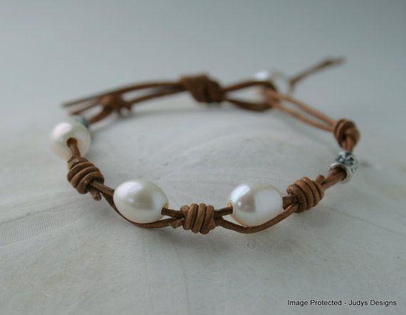 17 best ideas about leather pearl bracelet on pinterest. Black Bedroom Furniture Sets. Home Design Ideas
