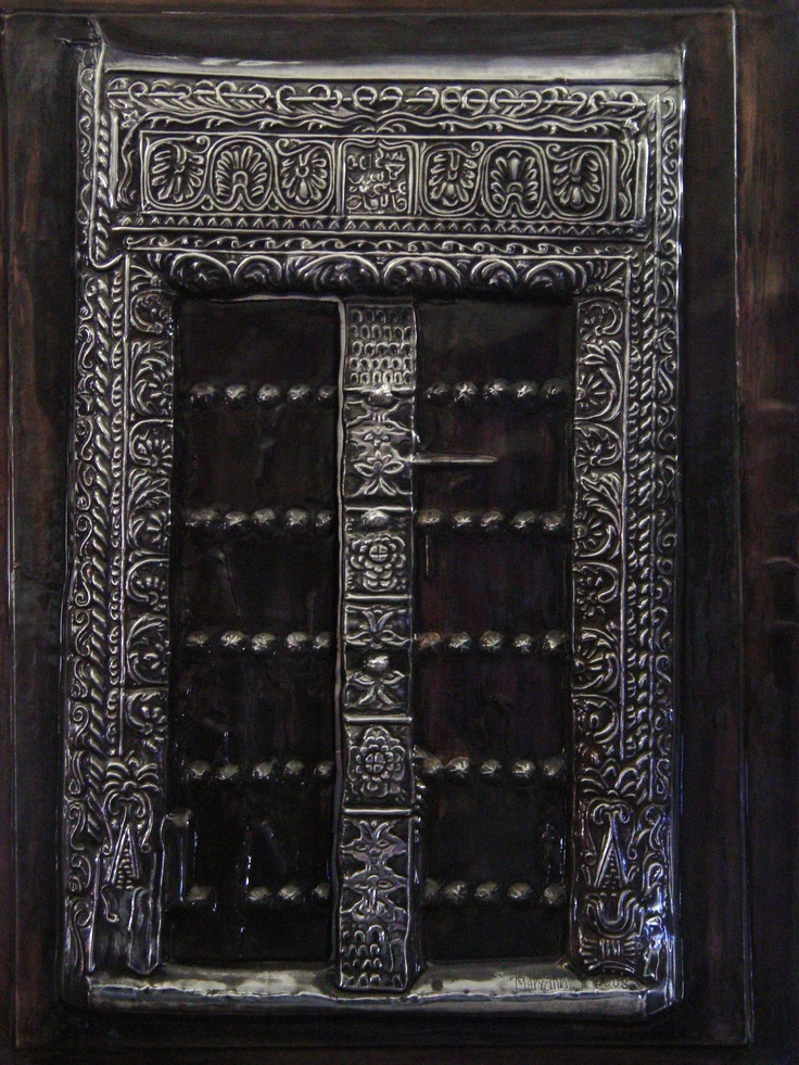 Created from a photograph of a door in Zanzibar. Work by Mary Ann Lingenfelder, Mimmic Gallery and Studio.