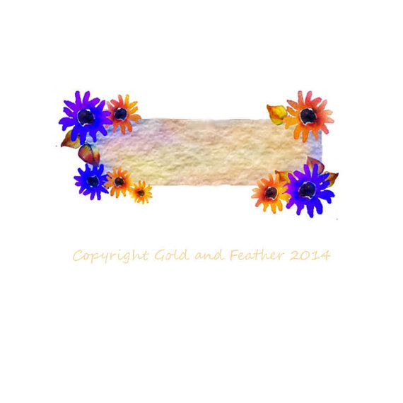 Clip Art Banner Purple Orange Flowers Birthday Card Mothers Day Make Your Own Card
