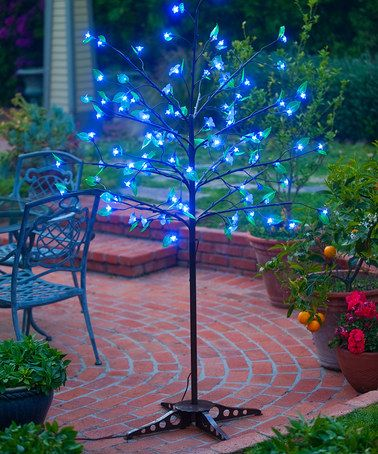 Loving this Blue LED Indoor/Outdoor Tree Light on #zulily! #zulilyfinds