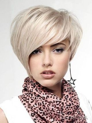 New Short Straight HairstyleTrend Silver Charming Top Quality Natural 100% Human Real Wig