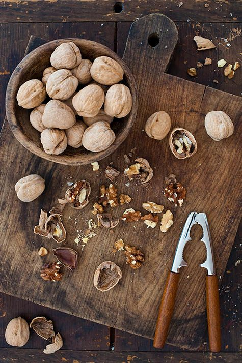 This time of year, my Grampa always had bowls of walnuts (and other nuts) in their shells with nut crackers on every table. I remember sitting for hours and cracking open walnuts and almonds and filberts and pecans with him. He hadn't set out bowls of nuts in years, but somehow this year, so soon after his passing, I miss it most of all. <3