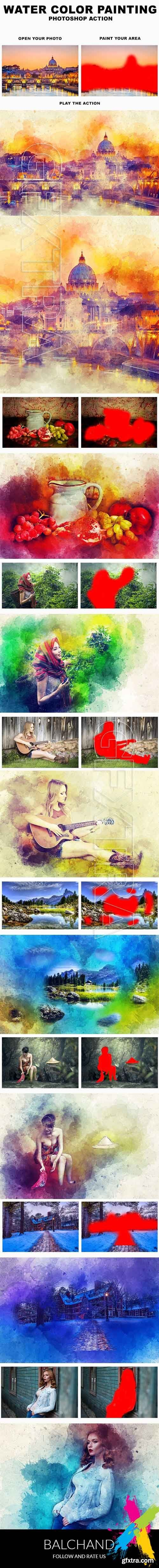 Graphicriver - Water Color Painting Photoshop Action 20258661