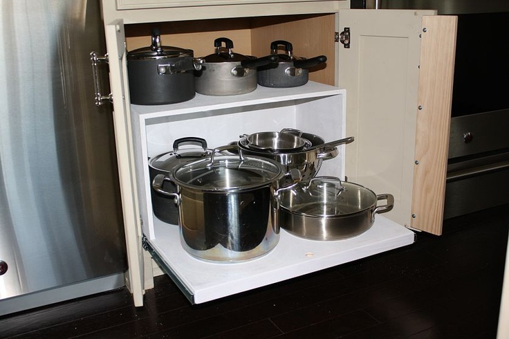 Making kitchen cabinets more functional.