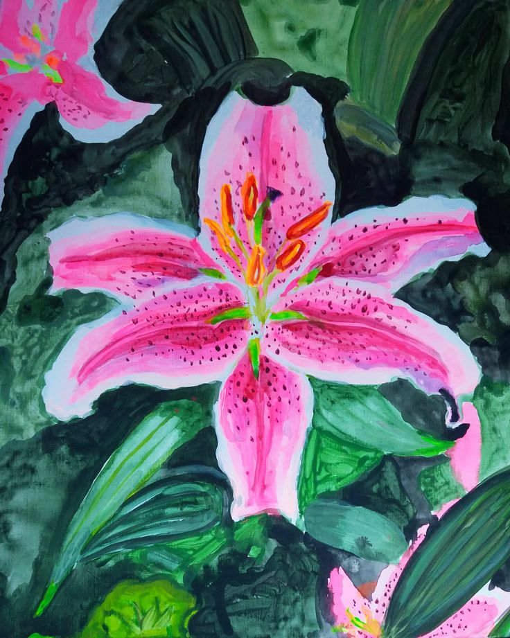 Lily Acrylic on Canvas 2016