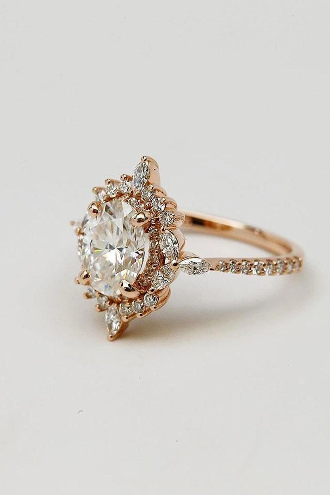 Women Diamond Chevron Ring Eternity Band Deco V Shaped Matching