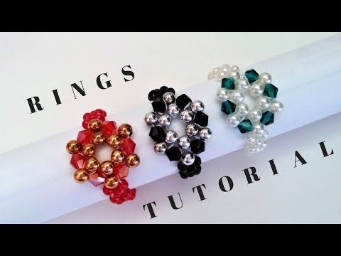 How to make a ring with beads. Beaded ring tutorial super easy. Beginner project - YouTube