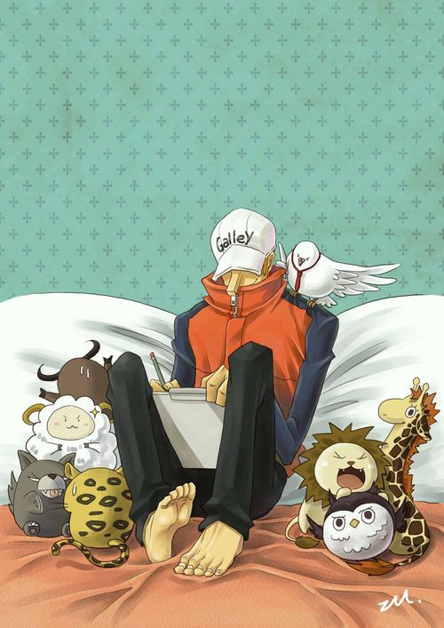 Kaku with stuffed animals~   One Piece