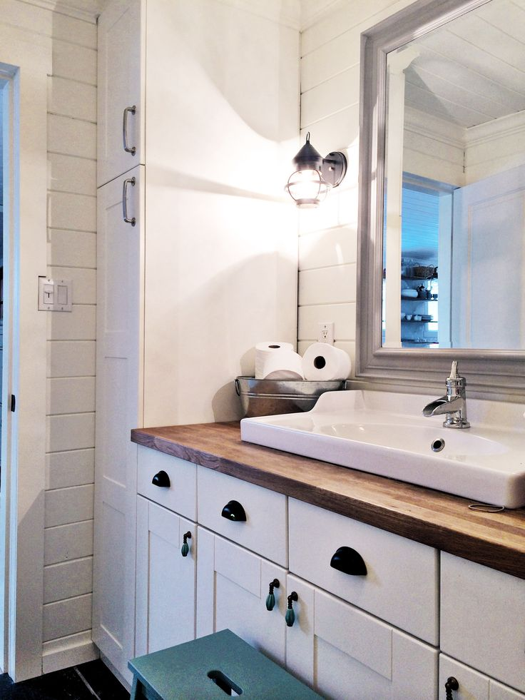 1photo How To: Create a Kid Friendly Farmhouse Bathroom! Heres My Before & After | The Homemade Farm