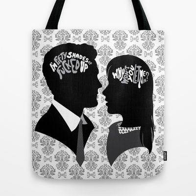 Inside my Brain 50 Shades of Grey, on society6.com/VanyNany #50shades #50shadesofgrey #grey #ana #anasteele #brain #silhouette #redroom #passion #love #lovestory #obsession #adult #sex #provocative #bag #fashion