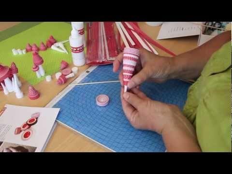 3D Quilling - Excelente tutorial! ❀¸.•´❀