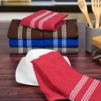 8-Piece Cotton Towel Set in Multi-Colors, Multi Colored With Stripes