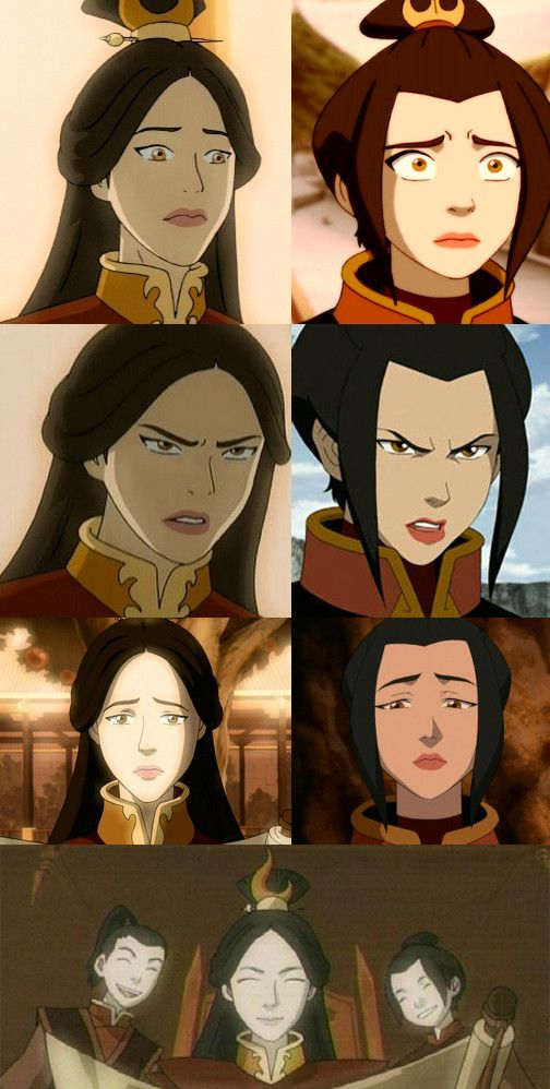 Wow, Azula really does look like Ursa <--she is as beautiful as her mother but as arrogent as her father