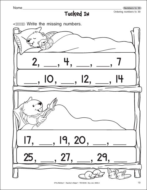 Get Free Kindergarten Grade Math Worksheets - Worksheets for Kindergarten - The Mailbox.com