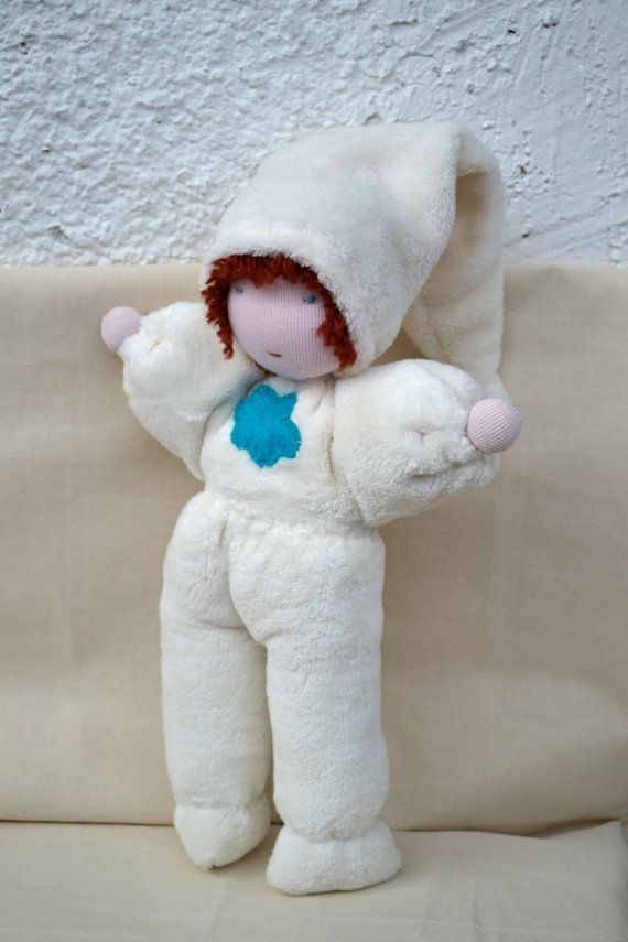 Soft Waldorf Doll, organic cuddle doll, toddler doll, steiner doll