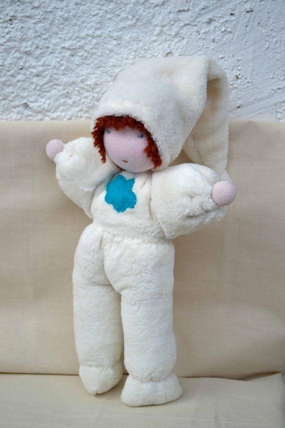 Soft Waldorf Doll, organic cuddle doll, toddler doll, steiner doll