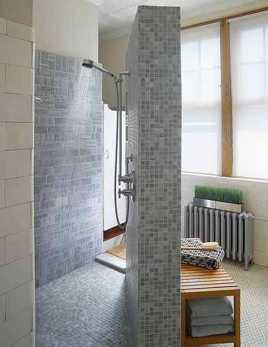 76 best for the home images on pinterest home ideas - Doorless shower designs for small bathrooms ...
