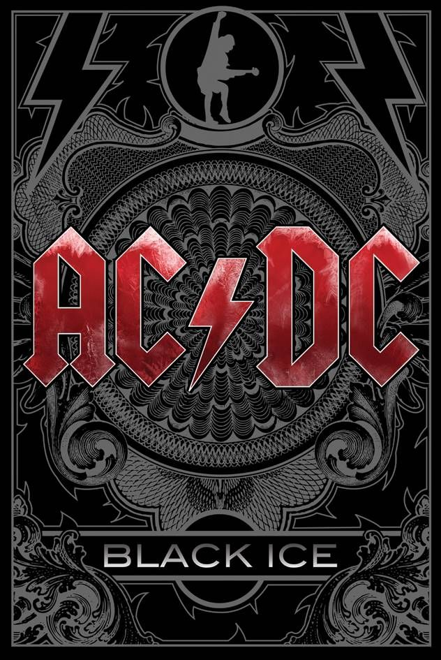 #AC/DC Black Ice Maxi Poster #ACDC Poster from their new album Black Ice. AC/DC are an Australian rock band formed in Sydney in 1973 by brothers Malcolm and Angus Young. Black Ice is the 15th studio album by ACDC and is their first album in 8 years since Stiff Upper Lip in 2000. (Barcode EAN=5028486170838)