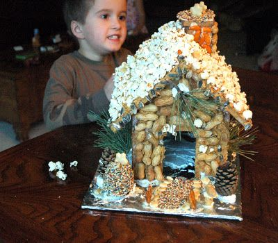 Ginger Bread House for birds and squirrels