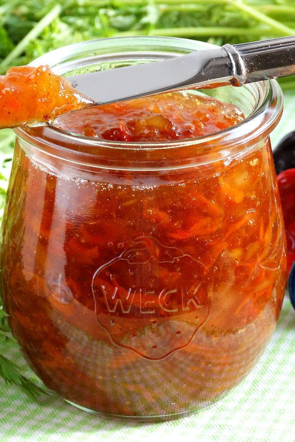 Carrot Cake Jam: Luscious, naturally sweetened and packed with flavor from fresh carrots, pineapple, coconut and spices, with a hint of molasses, this jam tastes just like Carrot Cake. Perfect to spread on biscuits, breads, muffins and scones, or even appetizers.