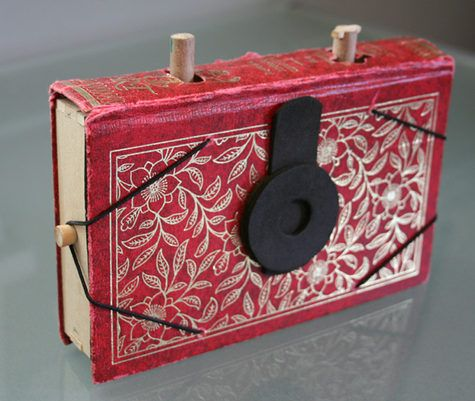old book turned pinhole camera.  awesome!