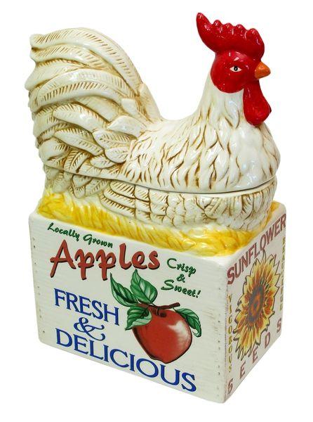 Farm Fresh Rooster Cookie Jar