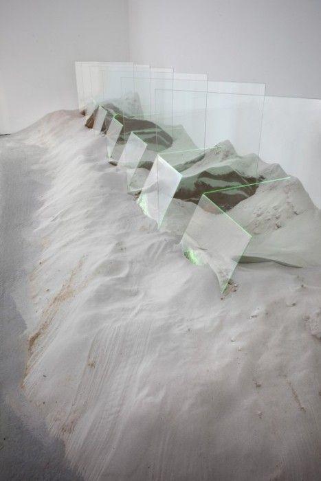 Laddie John Dill  Untitled (1971-72)  glass, sand, argon lights