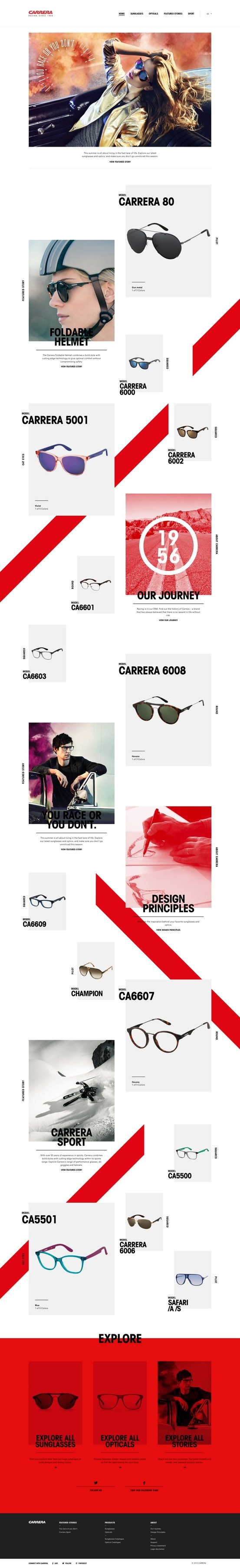 #eCommerce #websitedesign #webdesign #sunglasses #glasses #accessories http://carreraworld.com