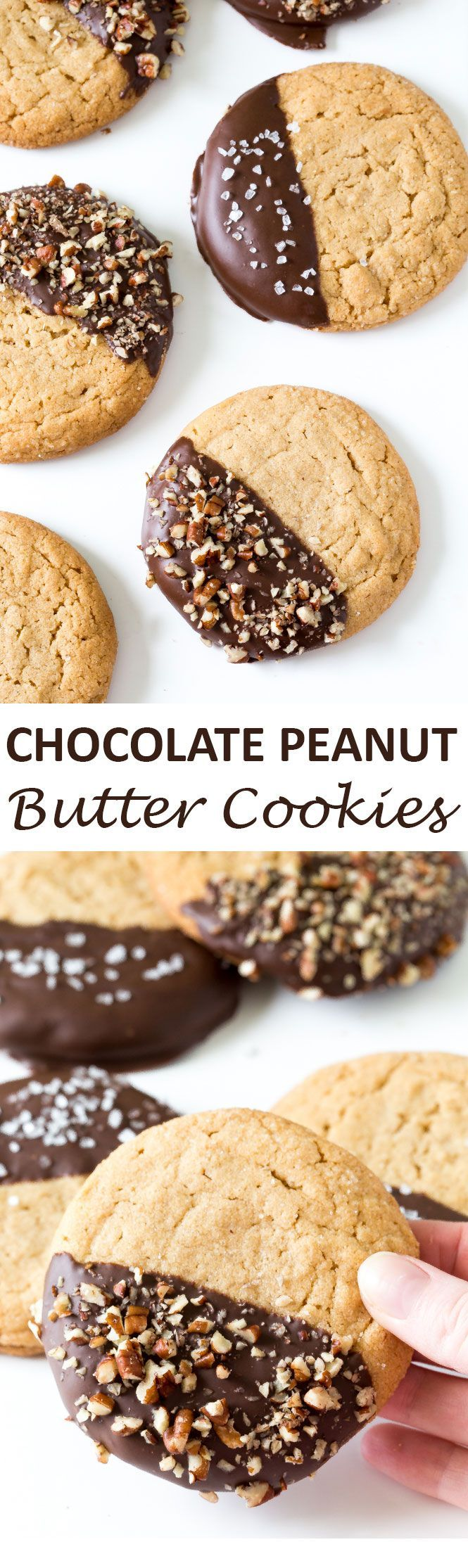 chewy peanut butter cookies peanut butter chocolate cookies chocolate ...