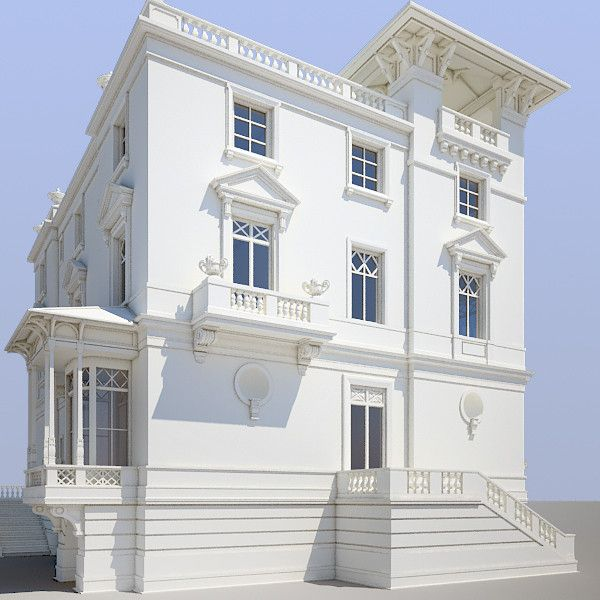 3d model ancient villa luxury classic villa pinterest for Villas 3d model
