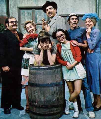 El Chavo del Ocho - Mexican sitcom from the 70's-80's starring the legendary Roberto Gomez Bolaños.  The series aired in Mexico, United States, Brazil, South America, and parts of Europe.