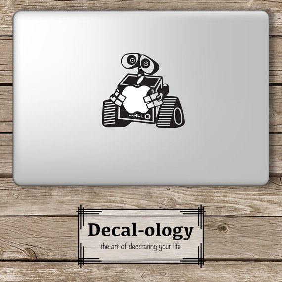 Wall e hugging apple disney apple macbook laptop vinyl sticker decal