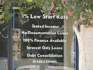 Subprime mortgage crisis - Wikipedia, the free encyclopedia