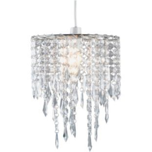 buy living beaded pendant light shade clear at. Black Bedroom Furniture Sets. Home Design Ideas
