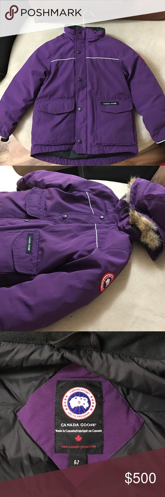Kids Purple Canada Goose Coat Previously Loved Kids Canada Goose Coat. Excellent Condition. Name written on Goose ID. Price Negotiable. Make an offer. Canada Goose Jackets & Coats Puffers