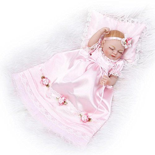 Baby Doll: 10inch Full Silicone Reborn Sleeping Girl Baby Doll Lifelike Little Princess Poseable Vinyl Playhouse Toy -- Read more reviews of the product by visiting the link on the image.