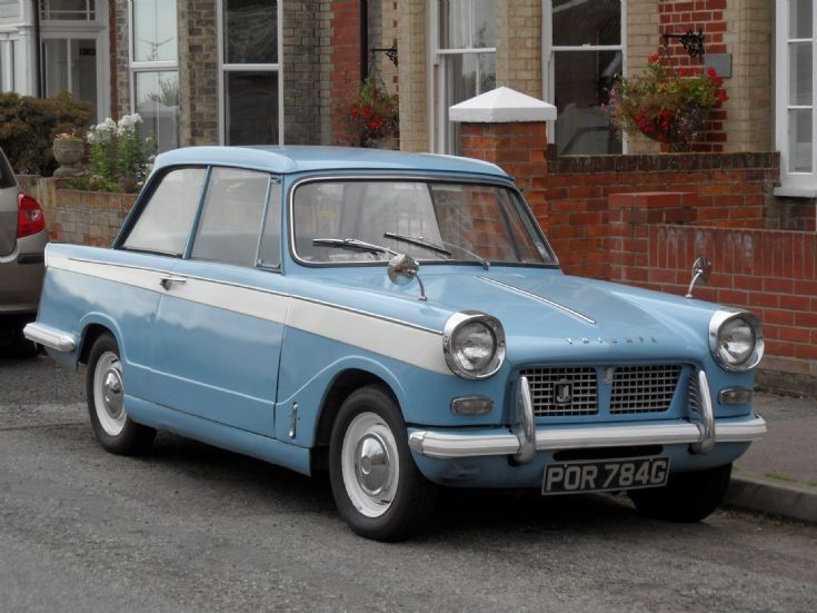 Triumph Herald POR784G. Had one. Loved it. Cooler than cool.