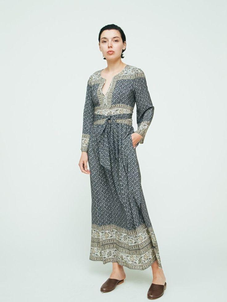Sea Tied Sabine Dress With Border Print ($665)