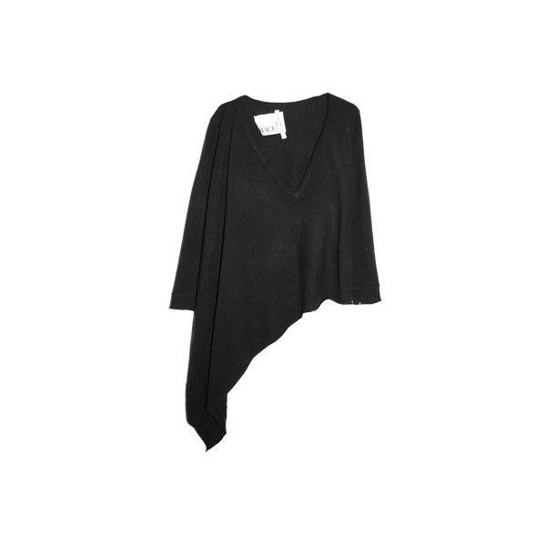 Branten.com - Branten.com : Blue asymmetrical sweater - 1,046SEK ❤ liked on Polyvore featuring tops, sweaters, black, asymmetrical tops, blue sweater, blue top and asymmetrical sweater