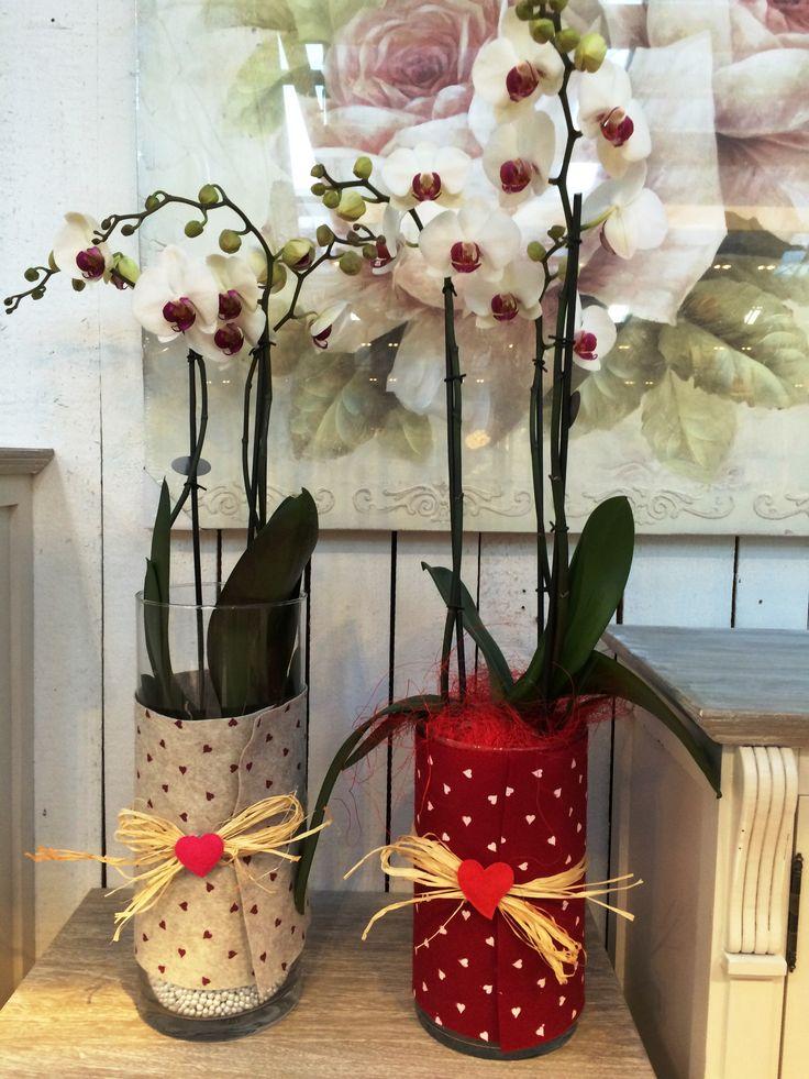 Anche i vasi di orchidee si trasformano con decorazioni for Vasi per orchidee ikea